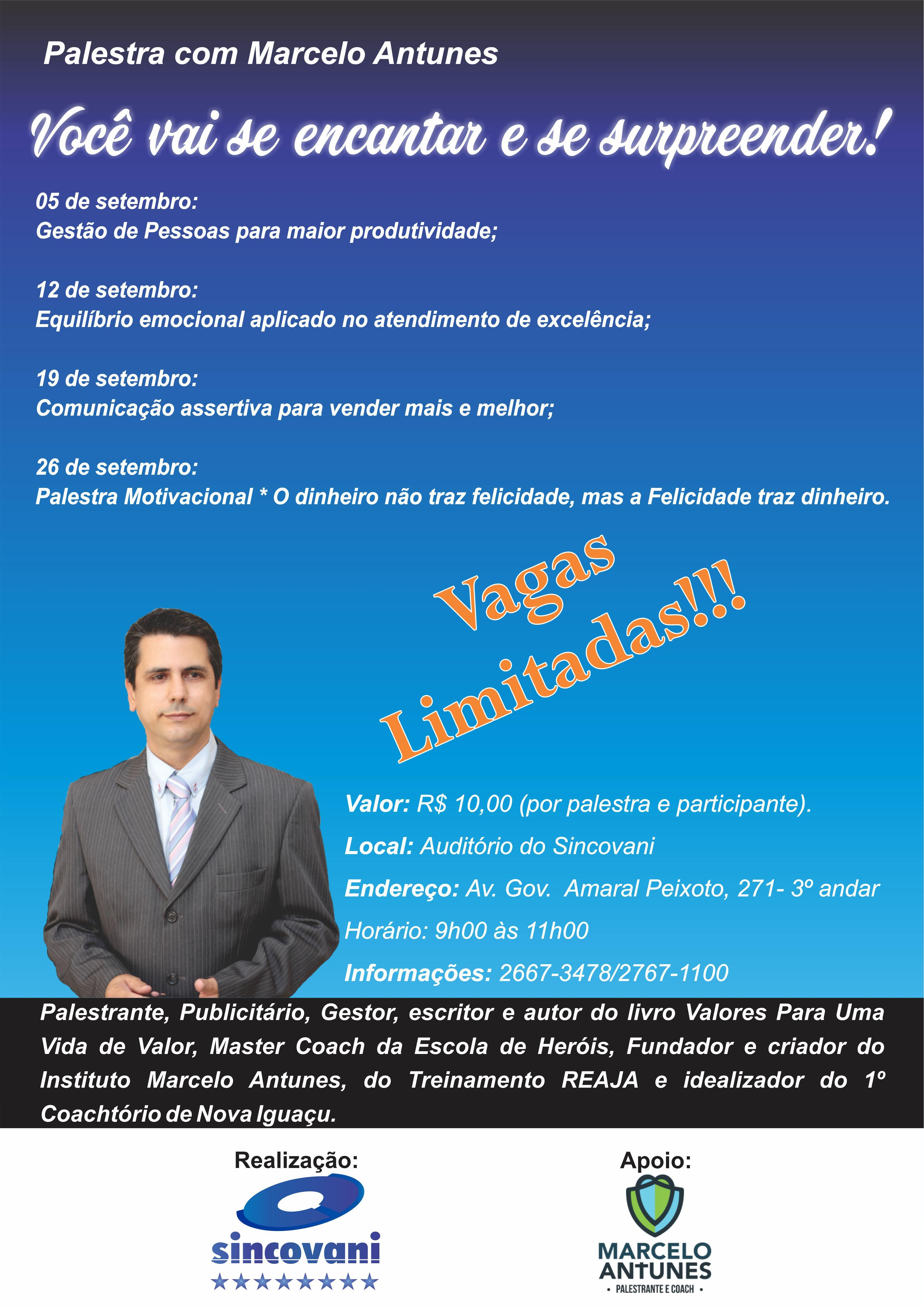 Palestra com Marcelo Antunes