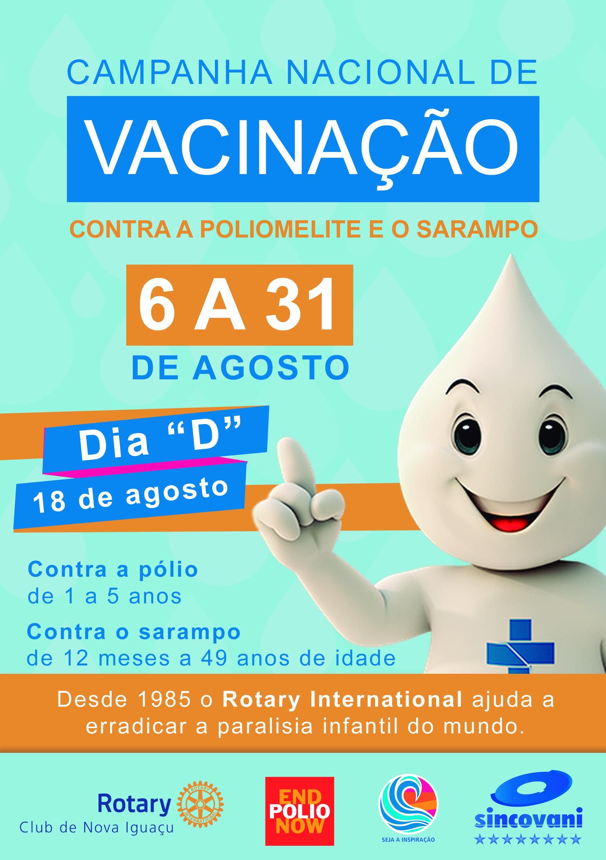 Campanha Nacional de Vacinação Contra a Poliomelite e o Sarampo